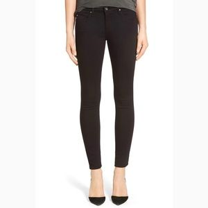 AG super skinny black legging pants, size 27